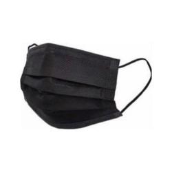 Siyah 3 Katlı Yumuşak  Cerrahi Maske 50'li Paket
